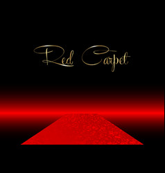 Red carpet concept background vector