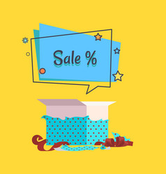 Sale banner with speech bubble poster vector