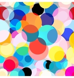 Seamless colorful graphic background with circles vector image vector image