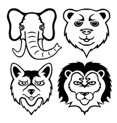 Set animals vector