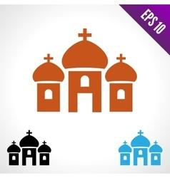 Set color icon Church vector