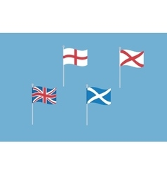 set of great britain flags with england vector image vector image