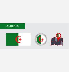 Simple flag algeria is isolated vector