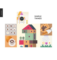 simple things - color composition set vector image