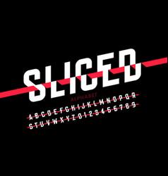 Sliced font vector