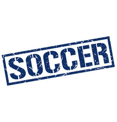 Soccer stamp vector