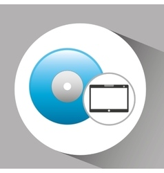 Tablet pc technology power button vector