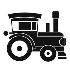 Toy train icon simple style vector image