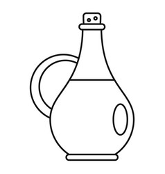 traditional olive oil bottle icon outline style vector image