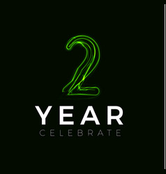 Two years celebrate poster for party 2 years sign vector