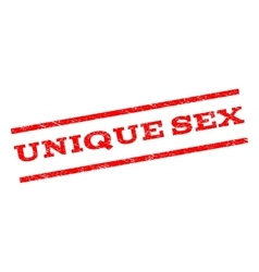 Unique Sex Watermark Stamp vector image