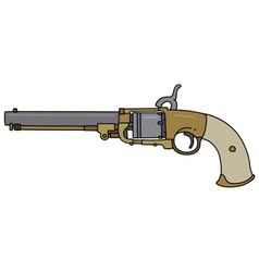 Vintage american handgun vector
