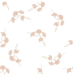 vintage floral seamless pattern in vector image