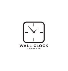 wall clock logo design template vector image