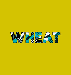 wheat concept word art vector image