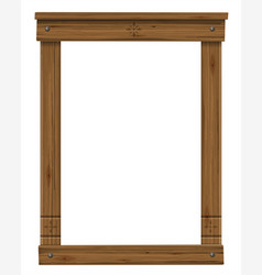 wooden antique window or door frame vector image