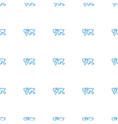 World map icon pattern seamless white background vector