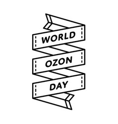 World ozon day greeting emblem vector