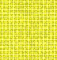 Yellow pixel mosaic background vector