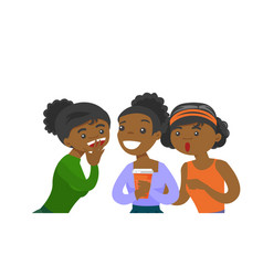 Young african-american women sharing gossips vector