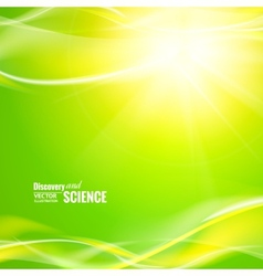 Abstract green lights vector image