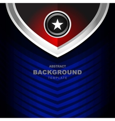 Abstract red and blue background vector