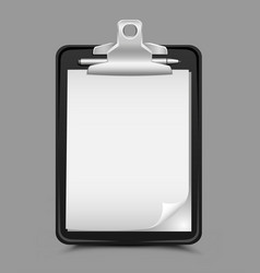 clipboard gray background vector image