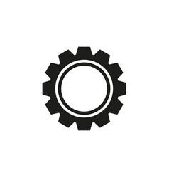 cogwheel with circle icon vector image