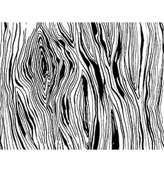 Handdrawnn grungy wooden texture Black and white vector image