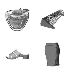 Industry cafe textiles and other monochrome icon vector