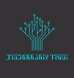 Technology tree of the microcircuit engineering vector image