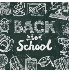 Back to school blackboard poster vector image