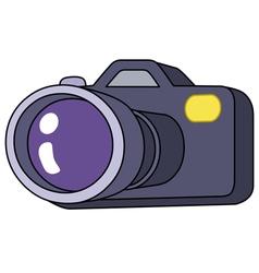 cartoon camera vector image vector image