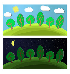 edge of the forest vector image vector image