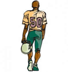 football player sketch vector image vector image
