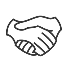 Hand shake icon help design graphic vector