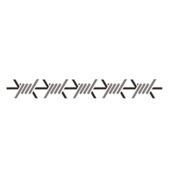 Silhouette metallic barbed wire icon vector