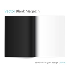 Black and white page magazine vector image