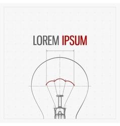Blueprint of bulb lamp stylized vector