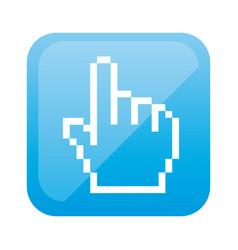 color square with hand cursor icon vector image