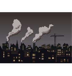 Industrial Town Grey vector image vector image