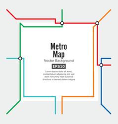 metro map rapid transit vector image