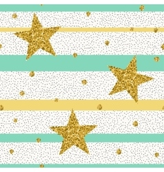 Trendy gold glittering confetti seamless pattern vector image vector image