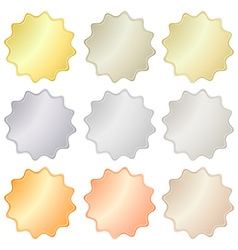 Blank glossy stickers in gold red gold platinum vector image vector image