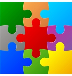 Colored Puzzles vector image vector image