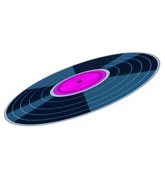 Gramophone record disk icon vector