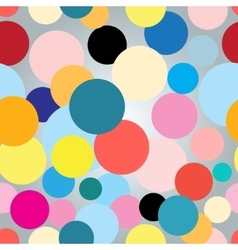 Seamless colorful graphic pattern with circles vector image vector image