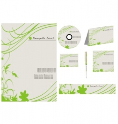 vector business template collection vector image