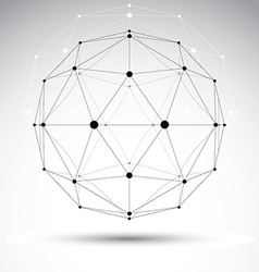 3d polygonal geometric wireframe object abstract vector