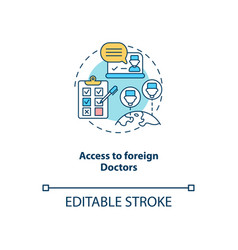 access to foreign doctors concept icon vector image